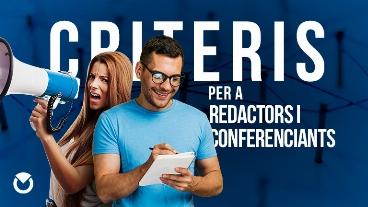 Criteris d'Hisenda per a redactors i conferenciants